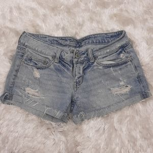 AEO American Eagle Denim Distressed Jeans Shorts 2